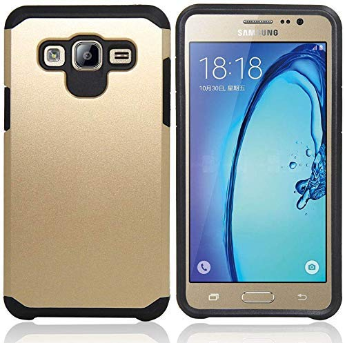 Galaxy J7 Neo J701M/J7 Nxt J701F/J7 Core J701 Case, With Screen Protector & Stylus, Telegaming Dual Layer Defender Impact Resistant Armor Cover For Samsung Galaxy J7 J700 /Core Duos J701FZ Gold