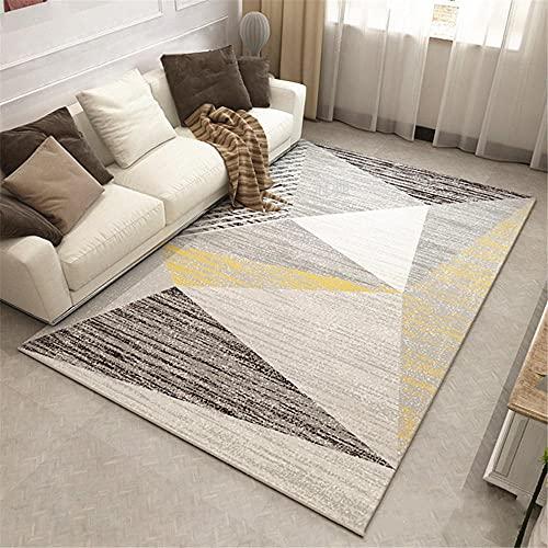 Kunsen alfombras oficinas Alfombra Silla Gaming Decoración del hogar del Piso del Dormitorio de la Sala de Estar de la Alfombra Gris Beige Centro de Mesa Decorativo Comedor 100x160cm 3ft 3.4' X5ft 3'