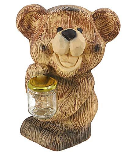 Dehner Dekofigur Bär Honey mit Solar, ca. 33 x 23 x 20 cm, Polyresin, braun