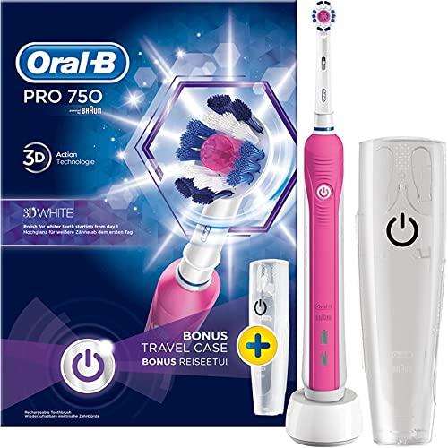 Oral-B Pro 7503DWhite Erwachsene Zahnbürste oszillierend Elektrische Zahnbürste (330g), 100mm, 178mm, 253mm, Lila, 490g