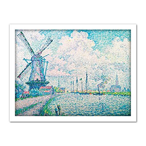 Paul Signac Canal Van Overschie Grote Ingelijste Art Print Poster Muurdecoratie 18x24