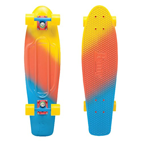 Santa Cruz Complete 22'' Fades Series Skateboard, Yellow/Red/Blue (Canary), 22