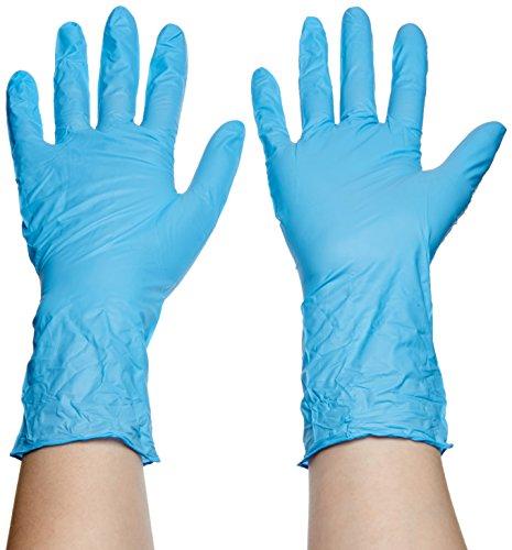 Meditrade Nitril-Handschuhe lang blau M