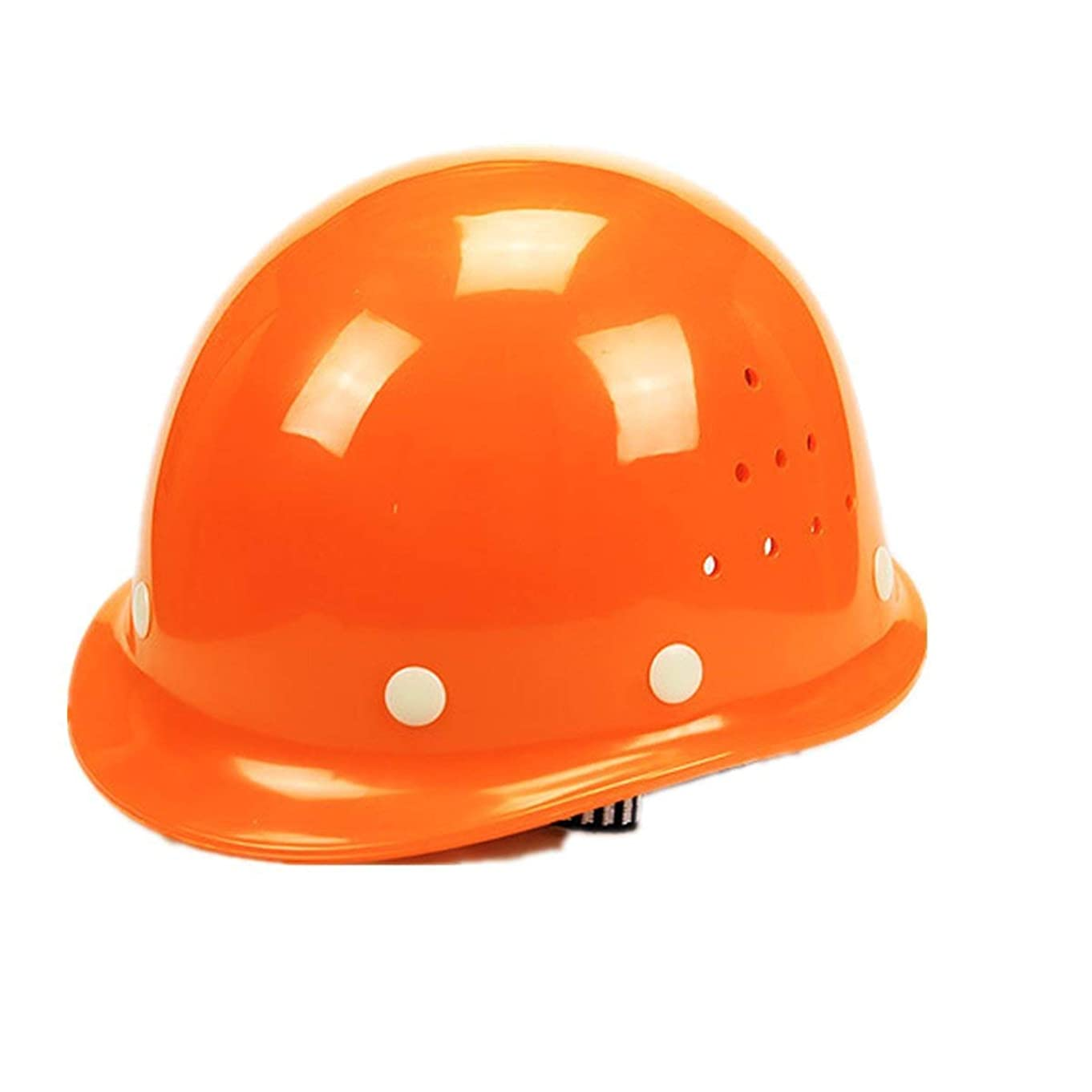 透過性従来の操作可能HNJZX 災害時の備えに 安全 ヘルメット 一般作業用 通気孔付 防災用 作業用 安全装備用 丸形 リストバンド付き (C)