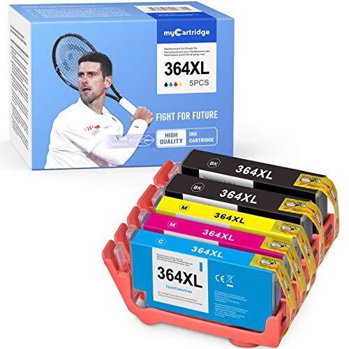 Mycartridge 5 kompatibel HP 364XL 364 XL Druckerpatronen Multipack für HP Photosmart 5510 5520 6520 7510 7520 HP Deskjet 3070A 3520 3524 (Schwarz/Cyan/Magenta/Gelb)