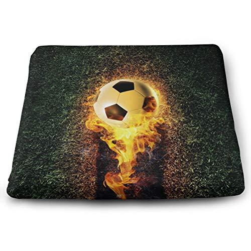 Memory Foam Pad zitkussen. Autostoel kussens om hoogte te verhogen - bureaustoel comfortabel kussen - voetbal met vuur