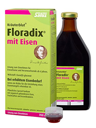Salus Kräuterblut Floradix mit Eisen, 2er Pack (2 x 700ml)