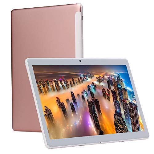 UCSUOKU 10 Zoll Tablet Android 9.0, Octa-Core Prozessor, 4 GB RAM, 64 GB Speicher, 10,1 IPS Full HD Display, 3G Telefonanruf, Bluetooth WLAN GPS, Google Zertifiziert(Pink)