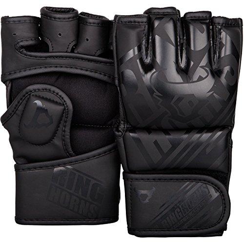 Ringhorns Nitro MMA Handschuhe, Schwarz/Schwarz, M