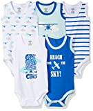 Luvable Friends Unisex Baby Cotton Sleeveless Bodysuits, Airplane, 0-3 Months