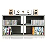 Way Basics Modular Media Console TV Stand Expandable Entertainment Center (Tool-Free Assembly and Uniquely Crafted from Sustainable Non Toxic zBoard Paperboard), Grey