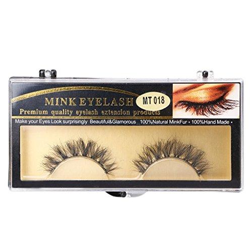 Zuanty 1 paire de longs outils de maquillage de cils naturels faux cheveux