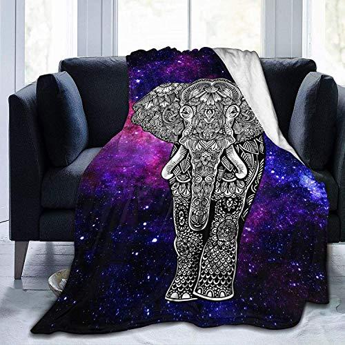 Los niños Duermen insomnio Mandala Elefante Manta Animal Galaxy Throw Blanket Super Soft Cozy Fleece Plush Reversible Bedding Manta Tamaño para niños Adultos Sofá de 40 x 50 Pulgadas
