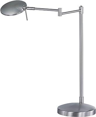 Trio Leuchten 574790107 Lampe de Table, Métal, 8 W, Nickel Mat