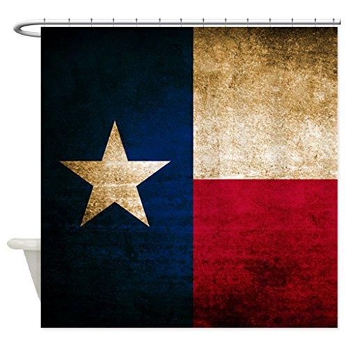 eikleom Vintage Flagge von Texas Duschvorhang 180x 180cm wasserdicht Polyester