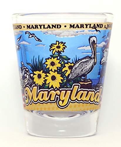 Maryland State Wraparound Shot Glass
