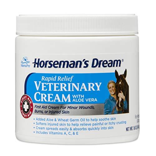Manna Pro Horseman's Dream Veterinary Cream | First Aid Cream with Aloe Vera | 16 Ounces