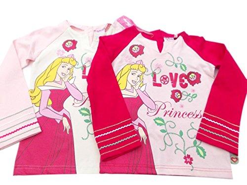 Bnwt Disney Princess Rose pâle à manches longues Top - Rose - 18-24 mois