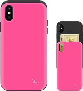 iPhone Xs ケース iPhone X ケース TPU バンパー Bumper 耐衝撃 カード入れ マット加工 ワイヤレス充電対応 スマホケース 擦り傷防止 保護フィルム Breeze 3DP 正規品 [IXJP223BN]