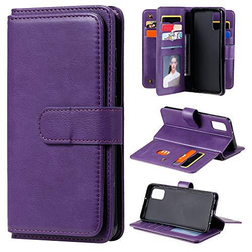 Nadoli Handyhülle für Samsung Galaxy S10 Lite,Groß Kapazität 10 Kartenfächer Multifunktion Brieftasche Geldbörse Magnetverschluss Flip Schutzhülle Klapphülle Etui Tasche Cover