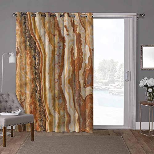 YUAZHOQI - Cortina corredera para puerta de patio, mármol, forma mineral de acuarela, 52 x 96 pulgadas de ancho x 96 pulgadas de largo, cortinas para oscurecimiento de habitación (1 panel)