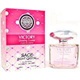 J&H VICTORY GLOWING CRYSTAL, Eau de Parfum Spray for Women, Perfect Gift, Vibrant, Daytime and Casual Use, for all Skin Types, a Classic Bottle, 3.4 Fluid Ounce