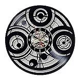 wtnhz LED-Reloj de Vinilo de la casa del Doctor Reloj de Pared de Modelado de Arte Creativo Reloj de decoración del hogar D