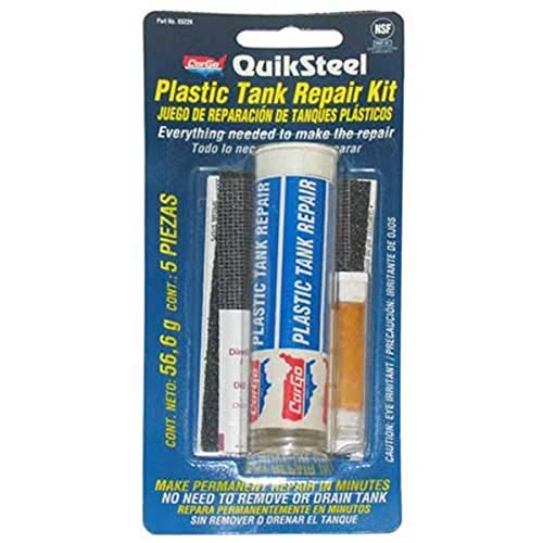 Blue Magic 6522KTRI QuikSteel Plastic Tank Repair Kit , White , 2 ounces