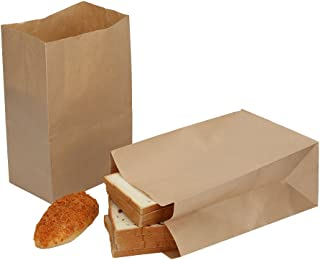 HRX Package Paper Lunch Bags, 11.75 x 7.8 x 5 inches Brown Durable Kraft Paper Bags, Paper Grocery Bags (Pack of 50)