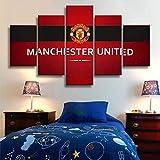 CXDM Wand-Kunst-Leinwand Poster Manchester United Flag 5