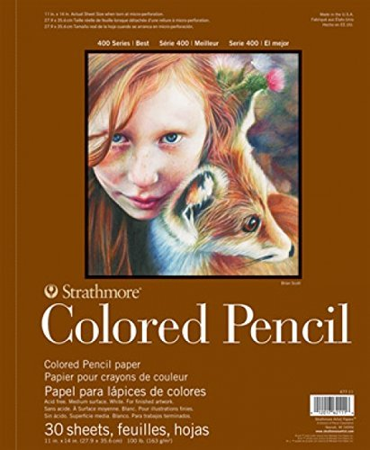 Strathmore 400 Series Colored Pencil Pad, 18'x24' Wire Bound, 30 Sheets