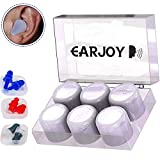 Best Ear Plugs Block Noises - Ear Plugs Silicone Reusable - EarJoy Noise Reduction Review