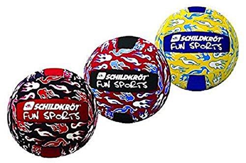Schildkröt Fun Sports 970070 Neoprene Beachvolleyball, schwarz/gelb/blau - Farblich sortiert 5 (20cm)