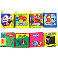 8-Pack Coolplay Baby's First Non-Toxic Soft Cloth Book Set