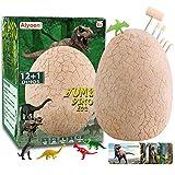 Alyoen Dinosaur Eggs for Kids 3-5, Jumbo Dino Egg Dig Kit with 13 Suprise Dinos in One Giant Filled Eggs, Science STEM – Discover Dinosaur Archaeology for Boys Girls