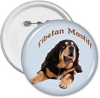 Tibetan Mastiff Pet Frontier China Pins Badge Button Emblem Accessory Decoration 5pcs