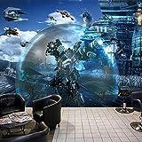 CQDSQN 3D pegatinas de pared Papel pintado Tecnología tridimensional sentido universo de Star Wars PVC Auto-adhesivo Mural Tienda Hotel Café Internet Gimnasio Yoga Tienda de ropa Tienda(W)500x(H)375cm