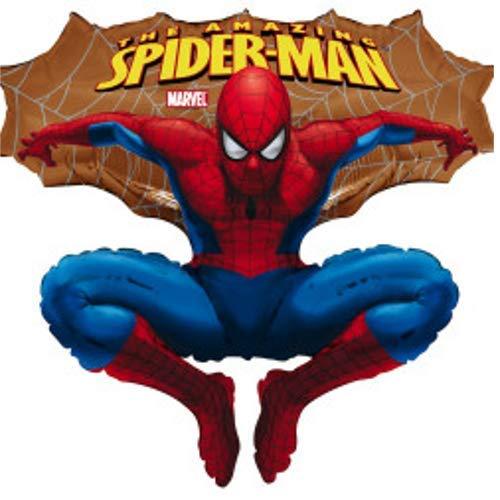 Spider - Man Marvel in goud ca. 80 cm ballonnen folieballon verjaardag deco xxl