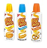 Kraft Easy Cheese Spray Can Variety Pack of 3 (Sharp Cheddar, American, Cheddar)