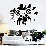 Jugador pared calcomanía joystick vinilo etiqueta de la ventana área de juego sala de juegos dormitorio de los niños decoración del hogar splash ink art