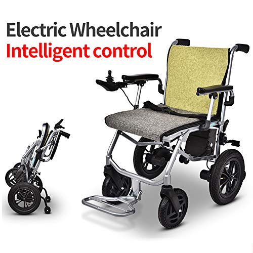 ZDYLM-Y Lightweight Electric Wheelchair, Open/Fold in 2 Second Mobility Aid Power Wheelchair, Breathable Seat Cushion, for Disabled Old People Walk Chair