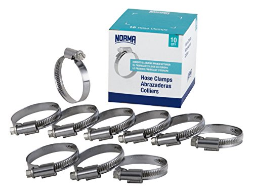 NORMA 01266704026-000-0539 Hose Clamps, 20 mm-32 mm x 9 mm W4 (Pack of 10)