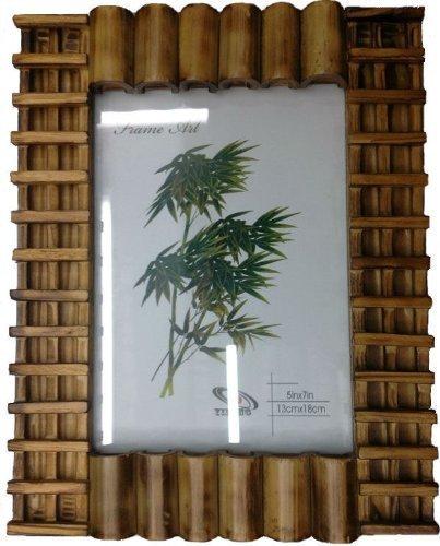 GMMH Bilderrahmen aus Bambus Design 8 a Holz Foto Galerie Fotorahmen Fotoalbum Bilder für Foto 15 x 20 cm