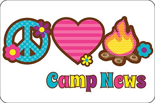 "Peace Love Camp Postcards   Kid Postcards   Camp Stationery   6"" X 4"" Postcards for Kids"