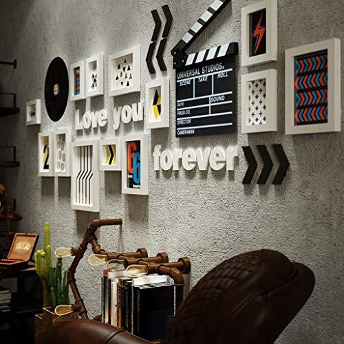 LXDDP Bilderrahmen-Wand, dekorativer hölzerner Foto-Wand-Wandclip, der D Creative Tovarson Industrial Style Nordic, Inneneinrichtung hängt