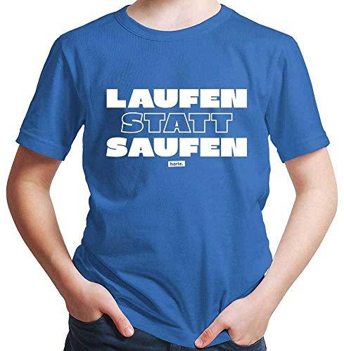 HARIZ Jungen T-Shirt Laufen Statt Saufen Laufen Joggen Plus Geschenkkarten Royal Blau 92/1-2 Jahre