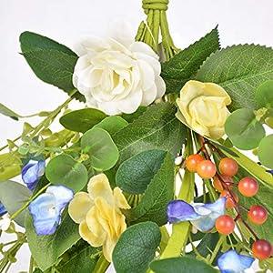 Silk Flower Arrangements NOONE Plastic Simulation Flower Daisies Wreath Pendant Garland Festival Supplies 60cm Door Lintel Artificial Floral Swag