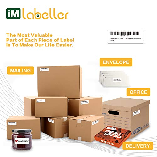 "iMlabeller 30 UP Labels 1"" X 2-5/8"" FBA Labels for Amazon Product SKU Inkjet and Laser Printer Mailing Labels, 100 Sheets for 3000 Stickers Photo #4"