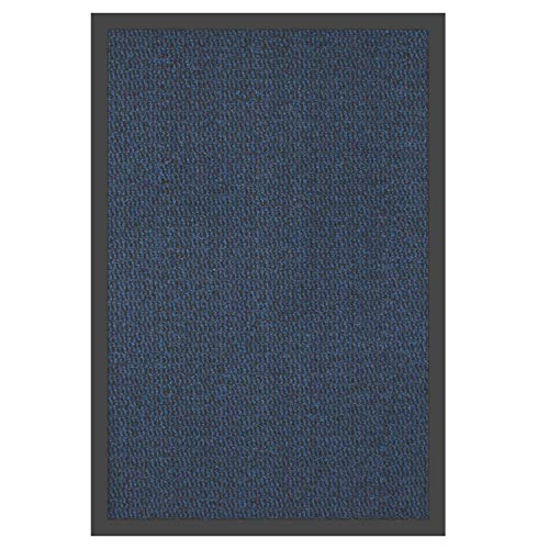 EXKLUSIV HEIMTEXTIL Schmutzfangmatte Blau/Schwarz 40 x 60 cm