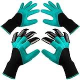 Garden Genie Gloves with Claws, 2 Pairs Green Waterproof Garden Gloves For Digging Planting, Best Gardening Gloves for Gardener (Men or Women)…
